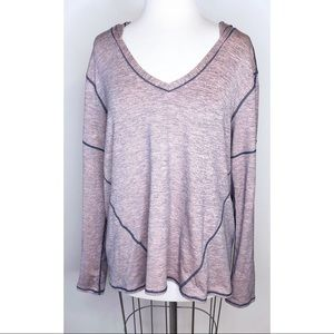 Zella pink and grey marled pullover